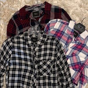 Set of 3 Rails Hunter Plaid Blouses